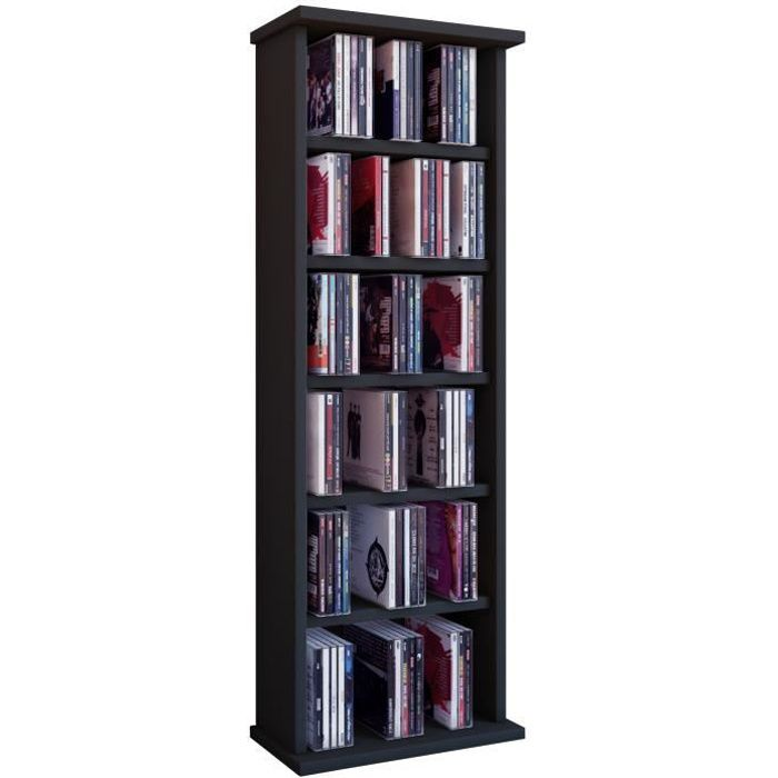 vostan tour rangement biblioth que cd dvd 150 cd h tre sans portes vitr s achat vente. Black Bedroom Furniture Sets. Home Design Ideas