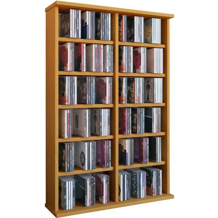 ronul tour rangement biblioth que cd dvd 300 cd sans portes h tre achat vente biblioth que. Black Bedroom Furniture Sets. Home Design Ideas