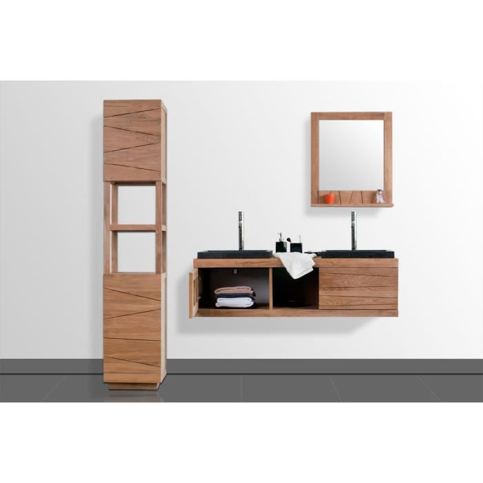 miliboo meuble de salle de bain double vasque achat vente ensemble meuble sdb anko. Black Bedroom Furniture Sets. Home Design Ideas