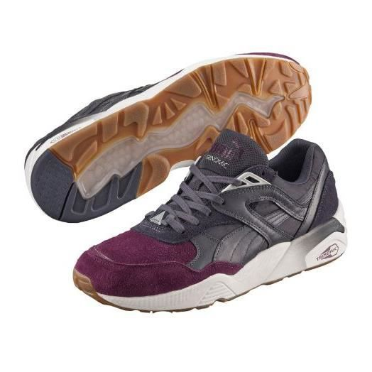 mieux aimé f0dc7 39621 Baskets Puma R698 Blocked Periscope Italian Plum Prune ...