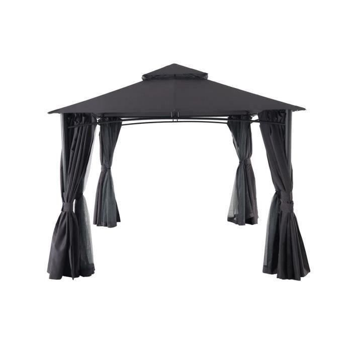 pergola 3x3 en aluminium achat vente pergola 3x3 en aluminium pas cher cdiscount. Black Bedroom Furniture Sets. Home Design Ideas