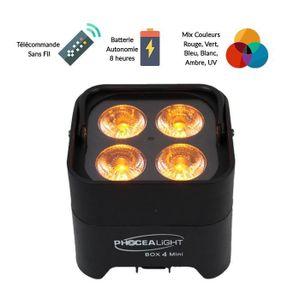 DÉCORATION LUMINEUSE Projecteur à LEDs sur batterie - Box 4 Mini - Ecla