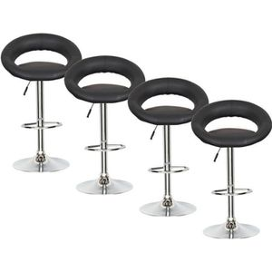 lot de 4 tabouret de bar pas cher table de lit. Black Bedroom Furniture Sets. Home Design Ideas
