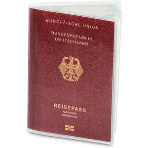 5Pcs Pratique Imperm/éable Transparent /Étui de ID Carte Protecteur de Passeport Stockage de Document