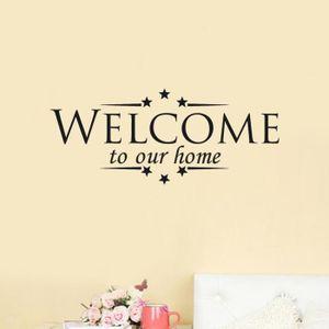 OBJET DÉCORATION MURALE mosakog® sticker muraux amovible Bienvenue à notre
