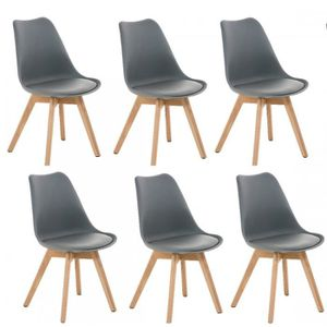 chaises scandinaves lot de 6 achat vente chaises. Black Bedroom Furniture Sets. Home Design Ideas