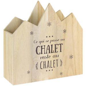 ABRI JARDIN - CHALET Range magazines en bois Bienvenue au chalet Ce qui