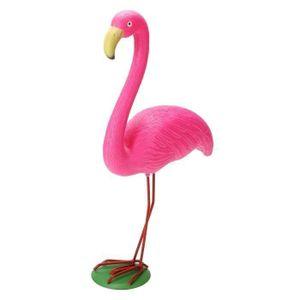 Jardin solaire Flamingo Silhouette Étang De Jardin Fête Ornement Décoration 79 cm