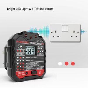 D/étecteur de prise de courant Meterk/® Testeur de prise /électrique RCD D/étecteur de Circuit D/étecteur de Polarit/é pour le Test de Polarit/é des Fils de phase de Z/éro et de Terre