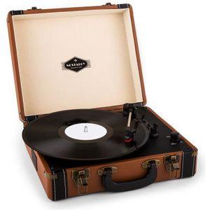 PLATINE VINYLE auna Platine tourne-disque vinyle look rétro - Num