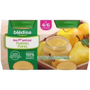 DESSERT FRUITS BÉBÉ BLEDINA Petits pots Purée de fruits Pomme poires -