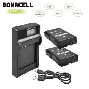 BATTERIE APPAREIL PHOTO BONACELL 2X Batterie de rechange 1500mAh et un Cha