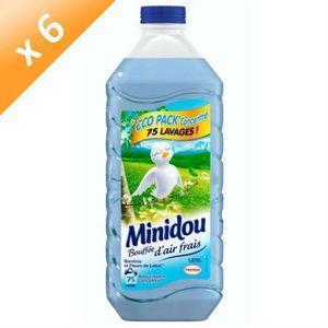 ADOUCISSANT MINIDOU Adoucissants Eco bambou - 1,875 L - Lot de