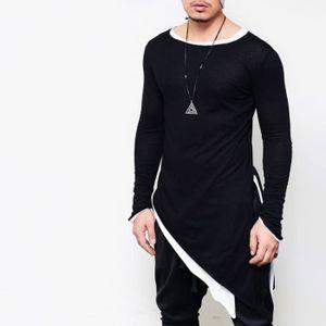T-SHIRT Tee Shirt Homme élasticité Longline T Shirt Manche