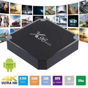 BOX MULTIMEDIA HD 4K X96 Mini Smart TV Box Pour Android 7.1 Décod