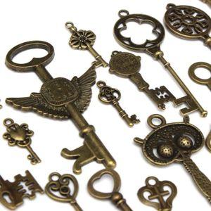 Perles TEMPSA Pendentifs Breloques Clés Bronze Vintage 69