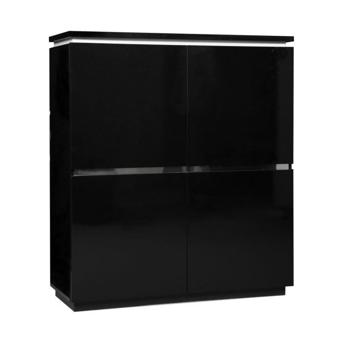 buffet bas noir laqu buffet bas noir buffet bas portes. Black Bedroom Furniture Sets. Home Design Ideas