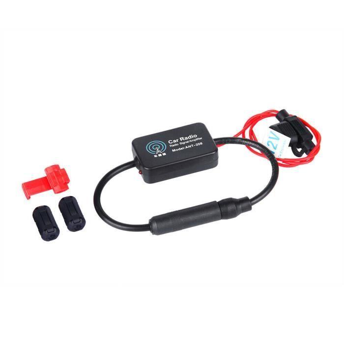 Amplificateur antenne autoradio véhicule 12V Amplificateur signal antenne AM / FM DE