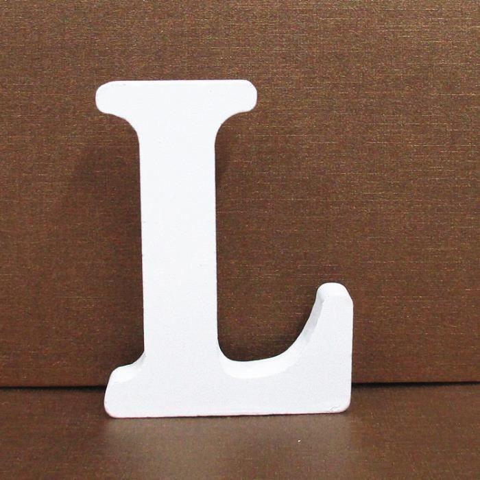 Lettre décorative Lettres En Bois Blanc Alphabet De Mariage Fête D'anniversaire Décorations À La Maison L YZW*47