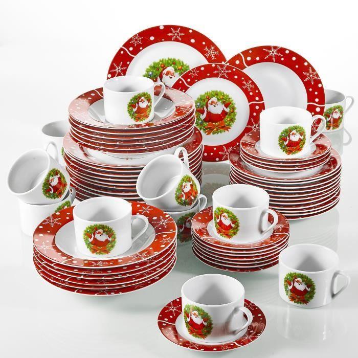 SANTACLAUS,une service de 60 Pièces de plates pour 12 personnes en Porcelaine