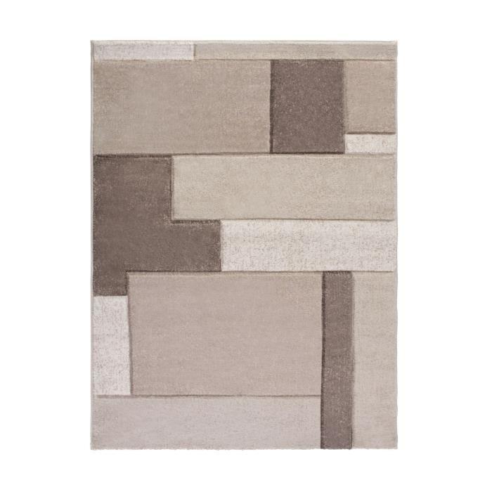 MULTI Tapis de salon contemporain - 200x290 cm - Anthracite