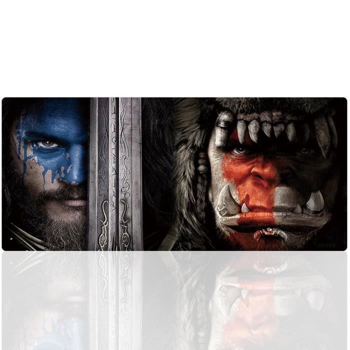 Beyme World of Warcraft Tapis de souris Gaming, 900mm x 400mm, Base en gomme, Tapis Clavier Tapis de Bureau Compatible Souris Las