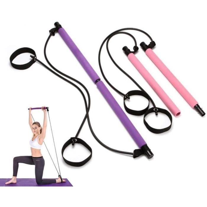 Yoga Pilates Stick Pilates Bar Kit Body Abdominal Resistance Rope Puller Multi Fonctionnel Yoga Rally Rod Rod Pilates Stick Fitness