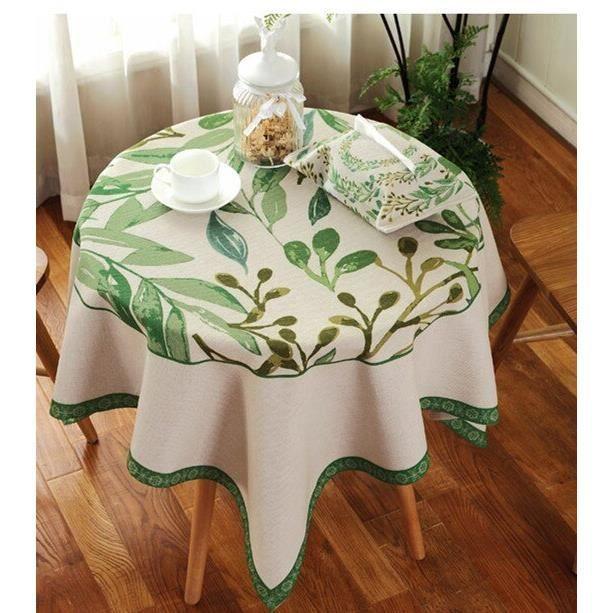 style 10 90 * 90 cm -Nappe de Table ronde en coton et lin, Imitation colorée de Style Pastoral américain, couverture décorative pour