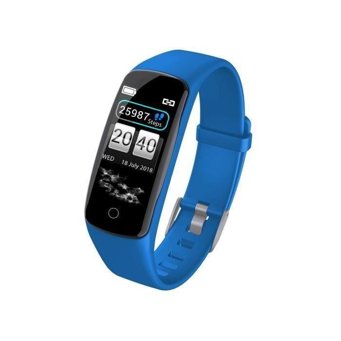 V8 Smart Bracelet, Écran couleur, Fréquence cardiaque, Bluetooth pour numérotation multiple, Mode Grand écran, Bracelet de sport - B