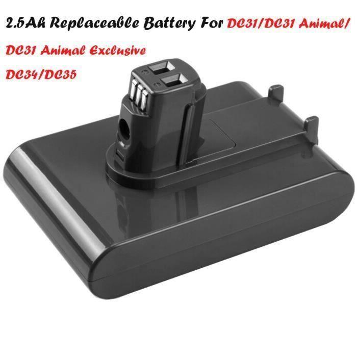 22.2V 2500mAh Li-ion de remplacement de la batterie pour Dyson DC31 - Pour DC31Animal - DC34 - DC35_AA608 Go35319