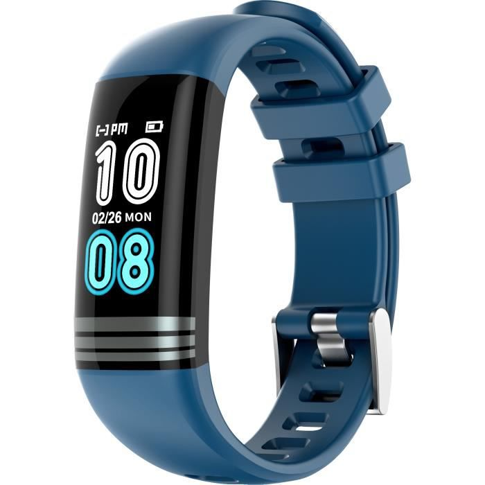 Montre connectée MMTek Thermo Sport Smartband thermomètre Bracelet montre intelligente fitness – Bleu