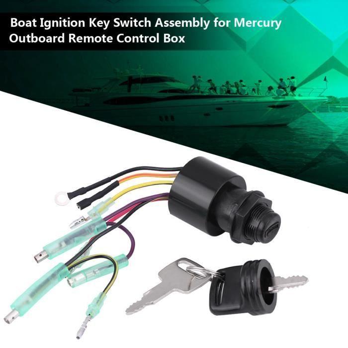 Dioche Commutateur d'allumage Ensemble de commutateur de clé de contact pour bateau pour boîtier de commande à distance hors-bord