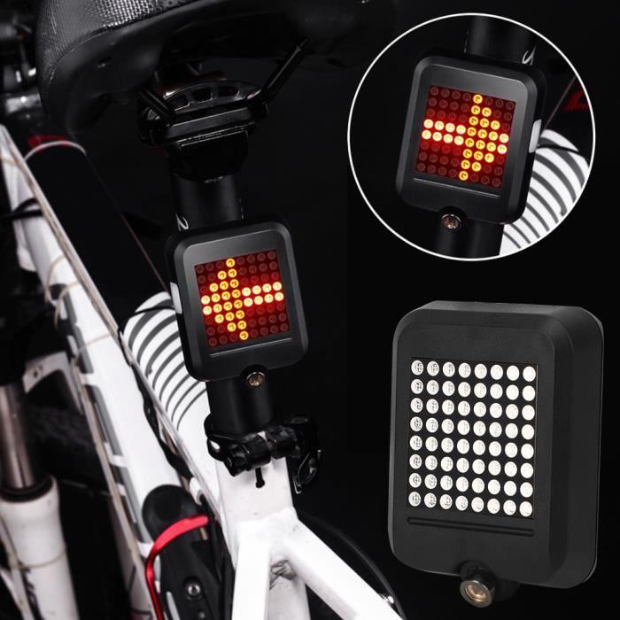 HURRISE feu d'avertissement arrière de vélo Intelligent USB charge vélo avertissement feu arrière vélo clignotant lampe