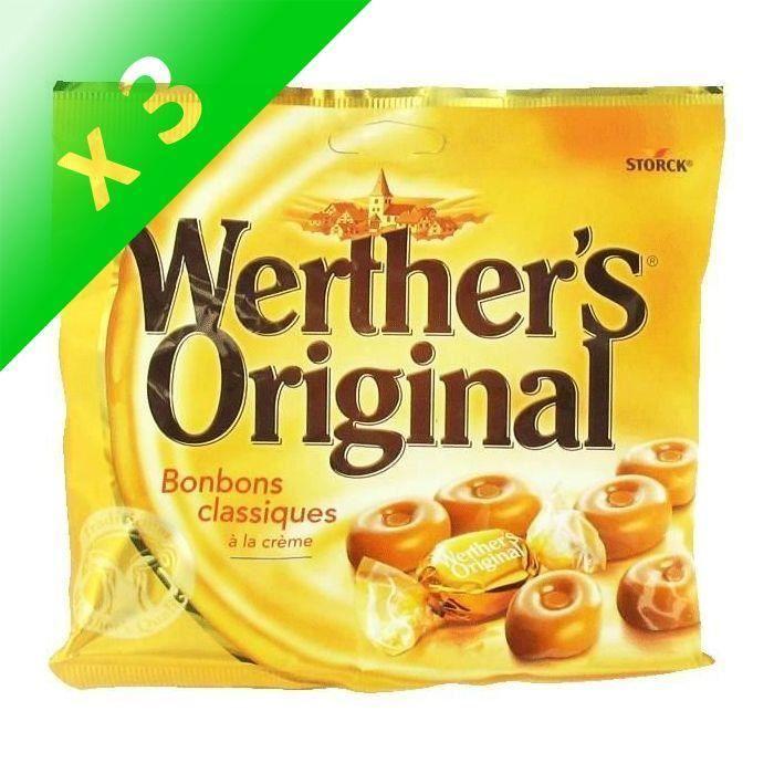 [LOT DE 3] WERTHER'S ORIGINAL Caramels au beurre et à la crème - 175 g