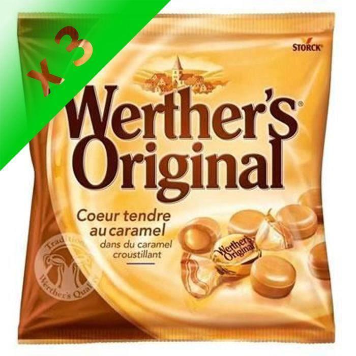 WERTHER'S ORIGINAL Cœur tendre au caramel - 160 g (Lot de 3)