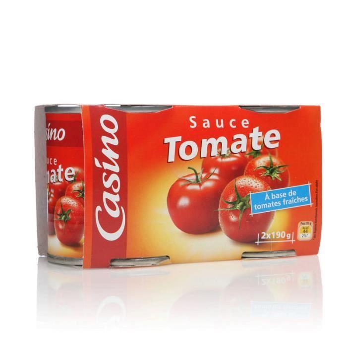 CASINO Sauce tomate nature - 2x190 g