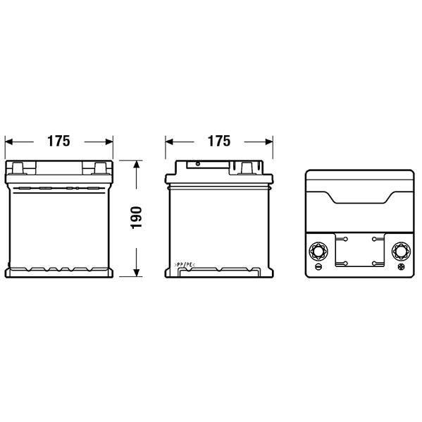 FULMEN Batterie auto FORMULA FB440 (+ droite) 12V 44AH 400A