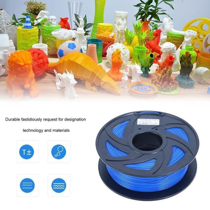 1.75mm lisse 1kg 3d filament fournitures 3d imprimante matériaux d'impression de filament rouleau pour stylo d'impression 3d