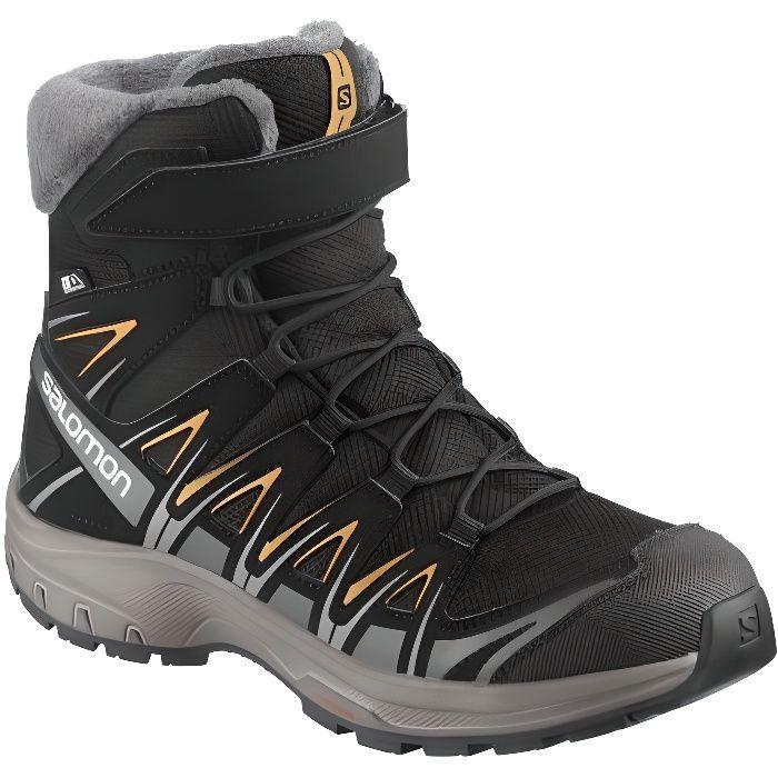 XA Pro 3D Winter TS CSWP J - Chaussures randonnée enfant Black / Magnet / Tangelo 31