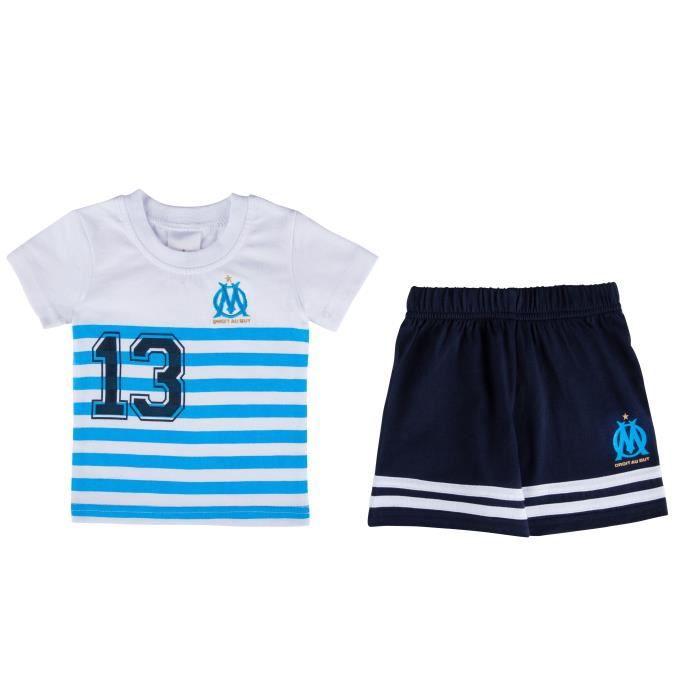 T-shirt + short OM bébé - Collection officielle OLYMPIQUE DE MARSEILLE