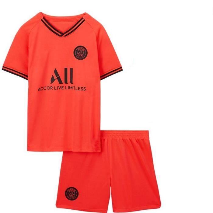 PSG Jordan Maillot de Foot Football Soccer(maillot + shorts)Suit 2019 2020 Pas Cher pour Enfant Garçon