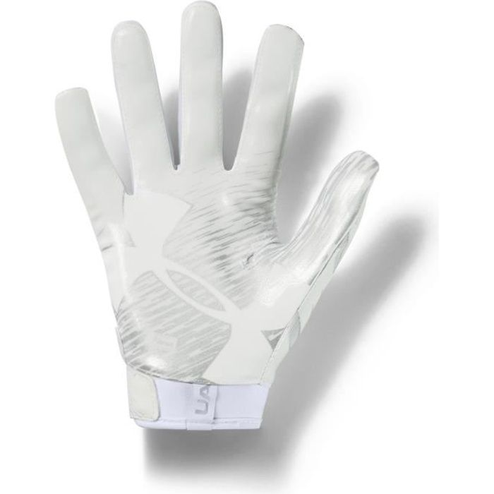 Under Armour - UA F7 Gants Football Américain Homme White/Metallic Silver - (large)