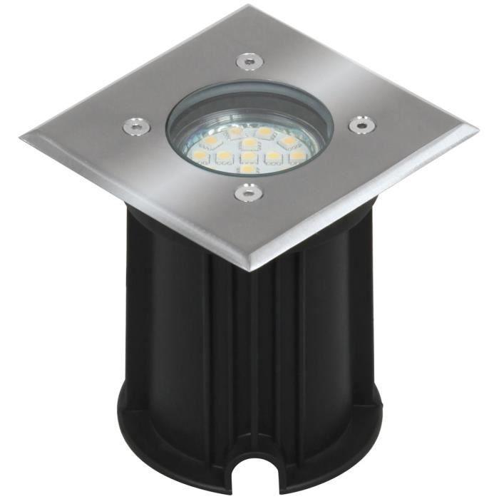 Smartwares Projecteur LED intégré au sol 3 W Noir 5000.459