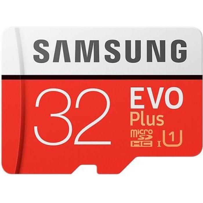 Carte Mémoir Samsung Evo Plus 32 Go Micro sd Sdxc + Adaptateur