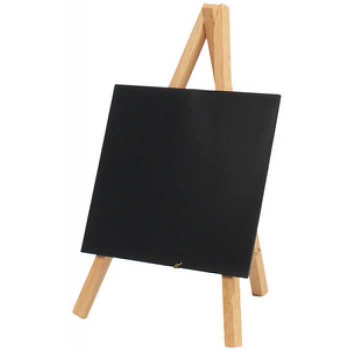 Securit Ardoise de table MINI avec trépied, hêtre 0,000000 Noir