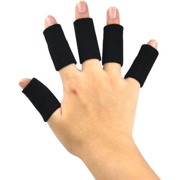 TRIXES 10 protège-doigt élastiques, protection de doigts avec arthrose aide au sport