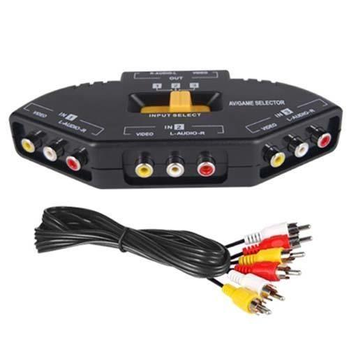 DIGIFLEX commutateur répartiteur AV connexion RCA soutien sélecteur 3 ports pour Xbox , PS2 , DVD