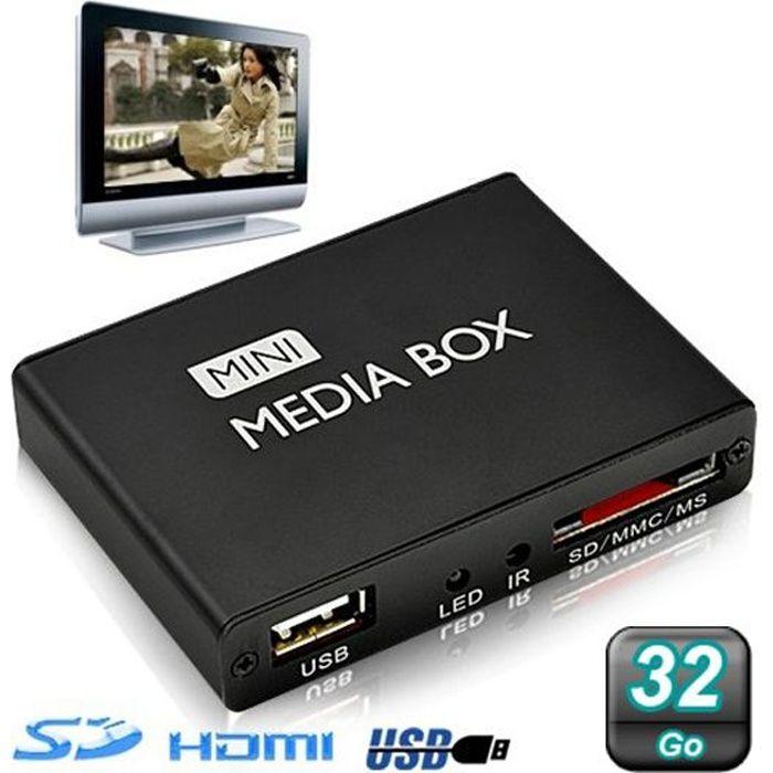 Mini passerelle multimédia lecteur vidéo HD 720…