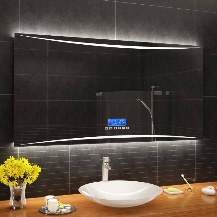 Miroir Salle De Bain 100x70 Cm Achat Vente Pas Cher