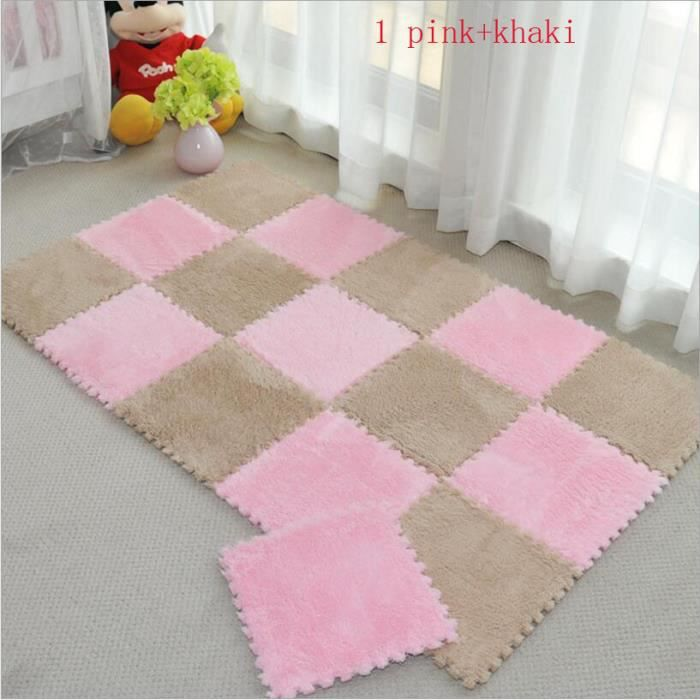 tapis de sol 15pcs paquet 30cm 30cm diy enfants tapis de puzzle salon chambre patchwork doux. Black Bedroom Furniture Sets. Home Design Ideas